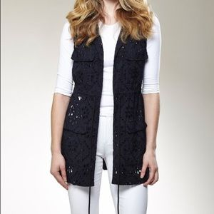NEW Insight size 8, Navy Eyelet Vest - Women